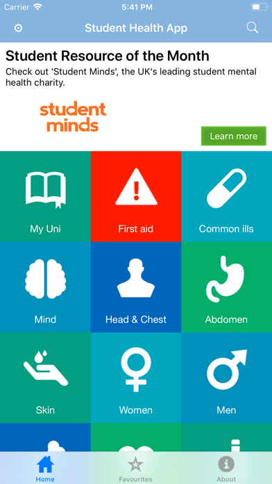 Student Health App screenshot one