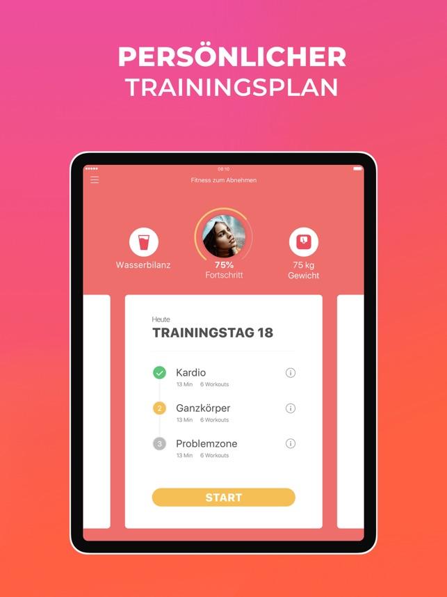 abnehmen trainingsplan kostenlos