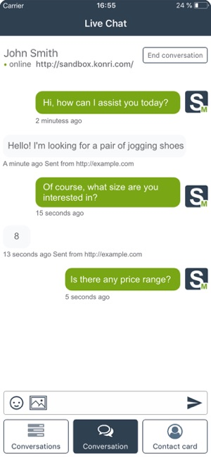 SALESmanago Live Chat on the App Store