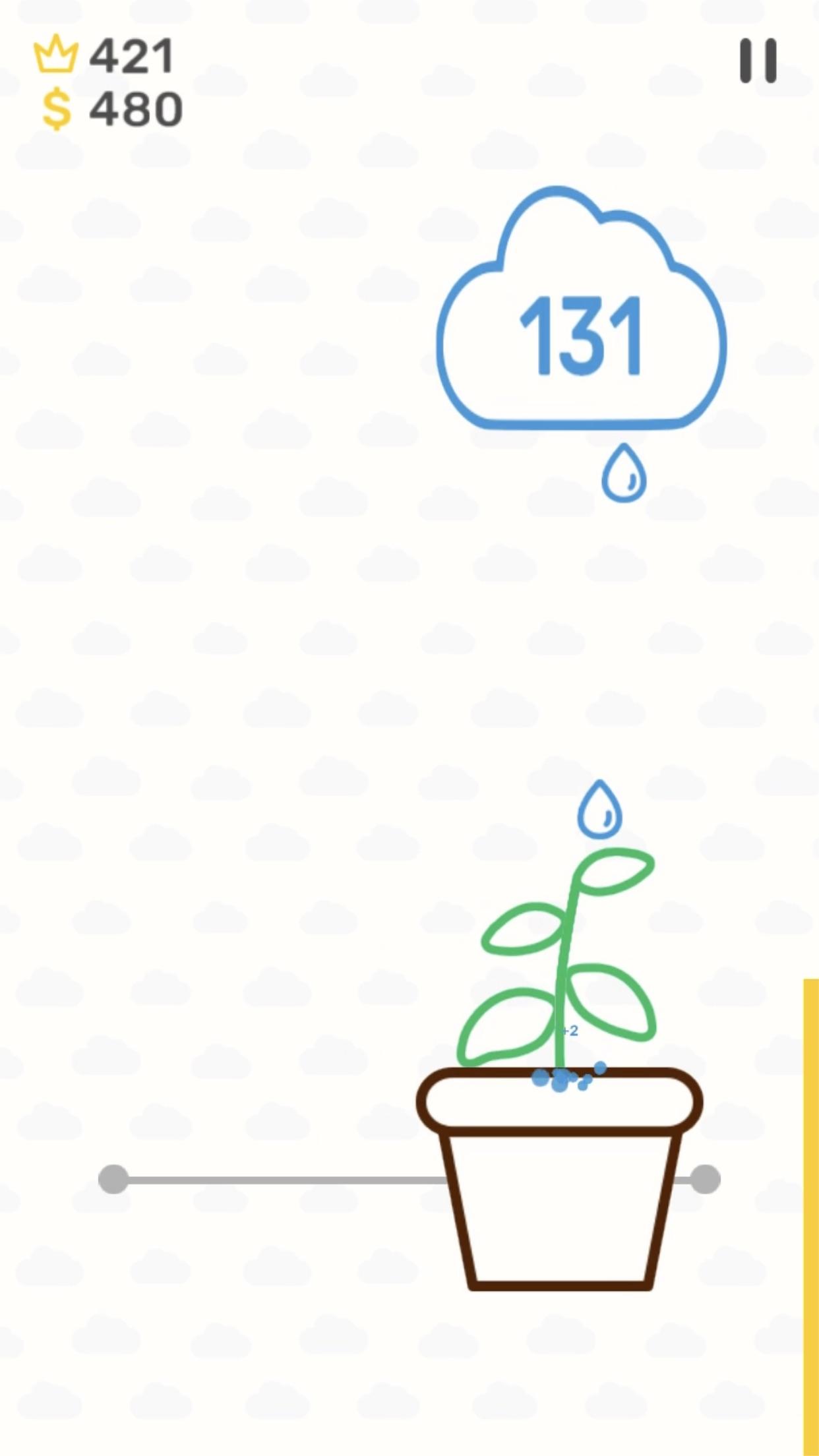 Screenshot do app Rain Drop Catcher