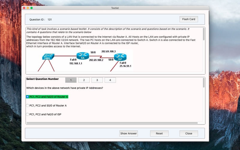SE CCNA Practice Tests for Mac