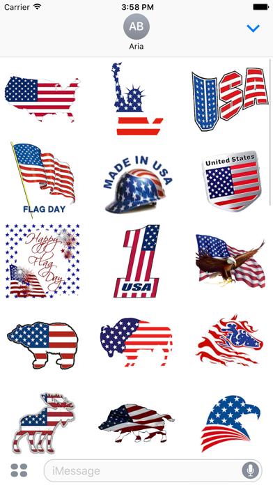 I Love The American Flag Icon screenshot 2