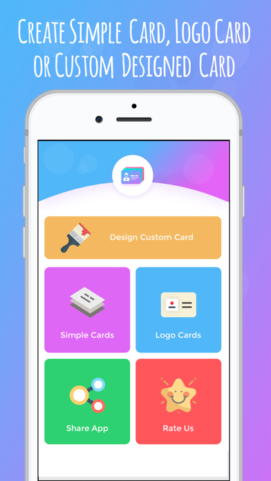 Screenshot of iBusiness Card Maker1