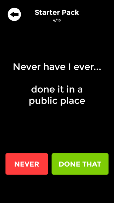 Never Have I Ever: Dirty Party screenshot 1