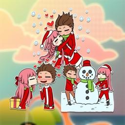 Christmas Couple Lover sticker
