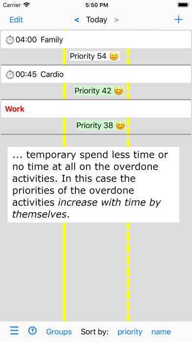 Activities and Priorities screenshot four
