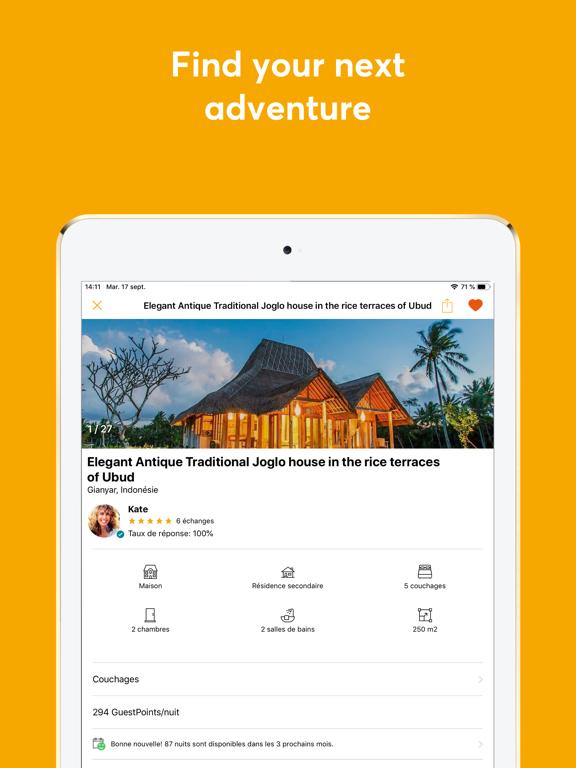 GuestToGuest - Home exchange screenshot