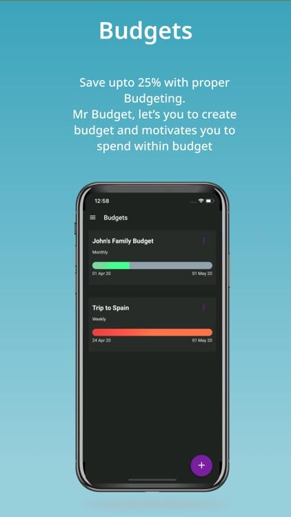 Mr Budget - expense tracker