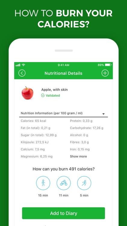 Calorie, Carb & Fat Counter