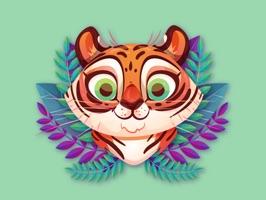 Cute Tiger Roar Stickers