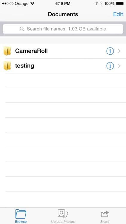 DiskOnPhone Wireless Disk screenshot-0