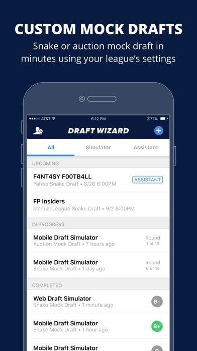 Fantasy Football Draft Wizard Screenshot