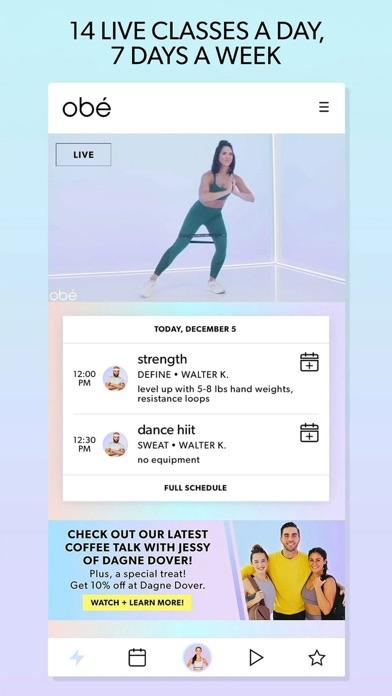 obé Fitness: Live & On-Demand Screenshot