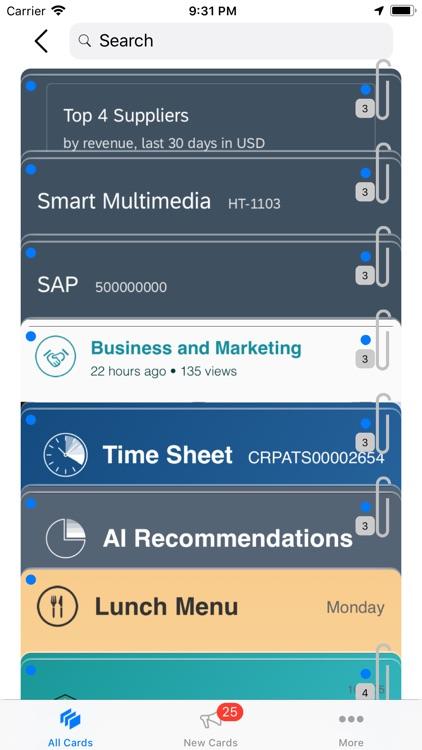 SAP Mobile Cards