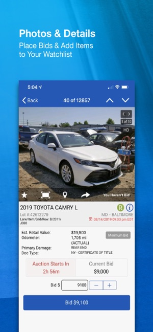 Car Auction Apps >> Copart Salvage Car Auctions On The App Store