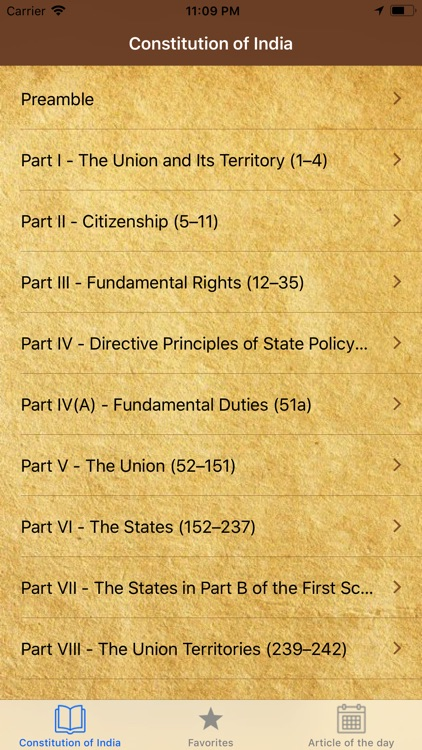 Constitution of India  English screenshot-1