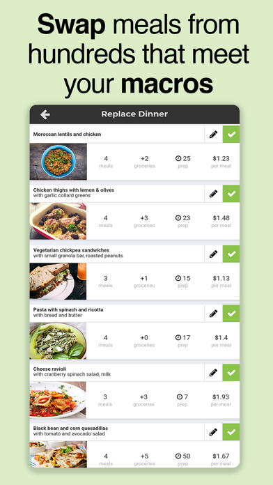 SF Meal & Workout Planner Screenshot