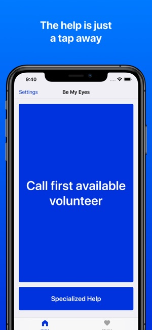 Be My Eyes – Helping blind see Screenshot