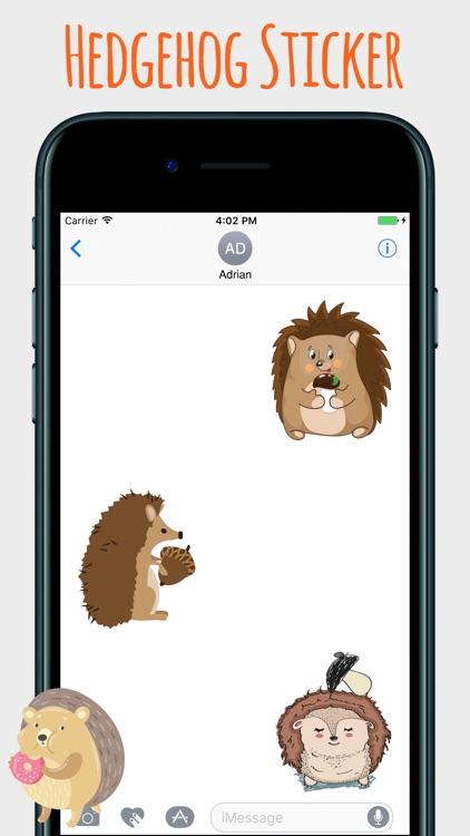 Spiky Hedgehog Stickers screenshot-3
