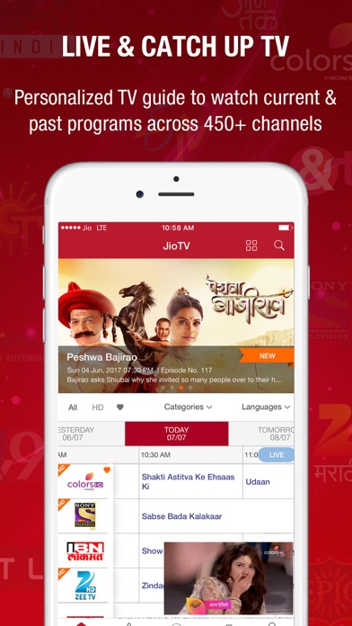 JioTV-Live TV & Catch-Up | App Price Drops
