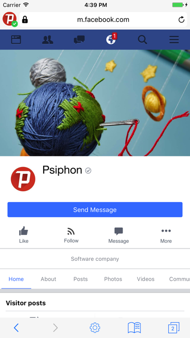 Psiphon Browser screenshot one