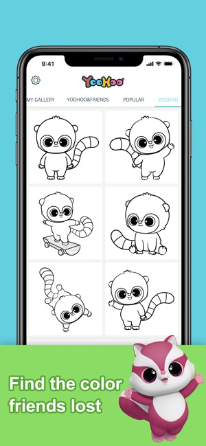 YooHoo & Friends Coloring Book on the App Store