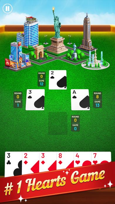 Hearts World Tour: Card Games screenshot #1