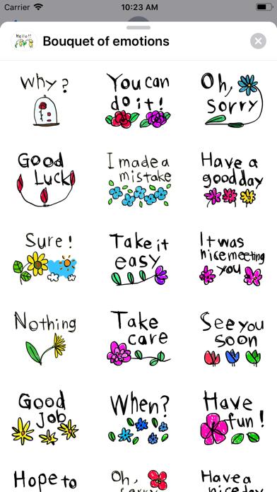 Bouquet of emotions screenshot 1