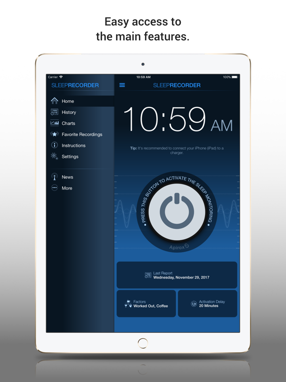 iPad Image of Prime Sleep Recorder