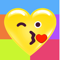 App Icon for Heart Face Multicolor Stickers App in Colombia IOS App Store