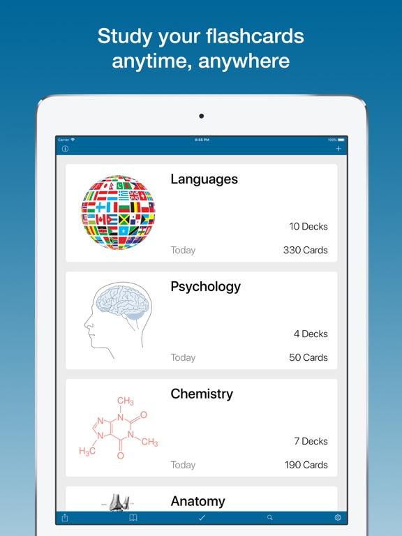 Flashcards & Quizzes - Studium Screenshots
