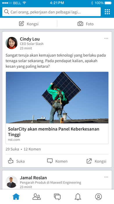 Screenshot for LinkedIn in Malaysia App Store