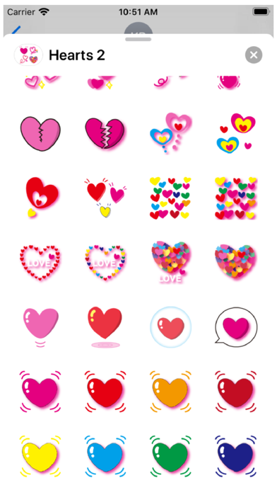 Hearts 2 Stickers Screenshot