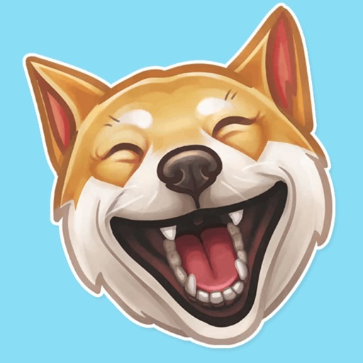 Funny dogs - emoji stickers icon