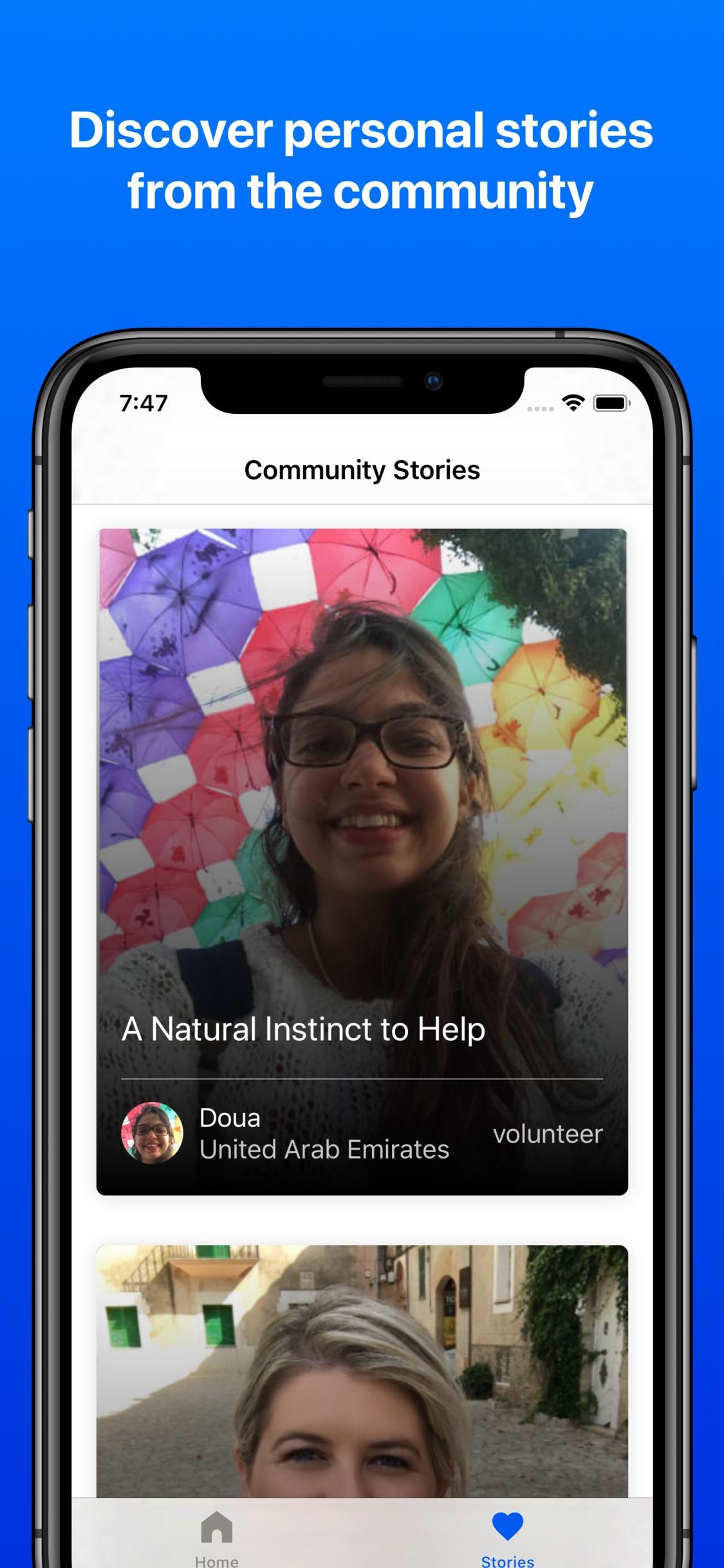Screenshot do app Be My Eyes – Helping blind see