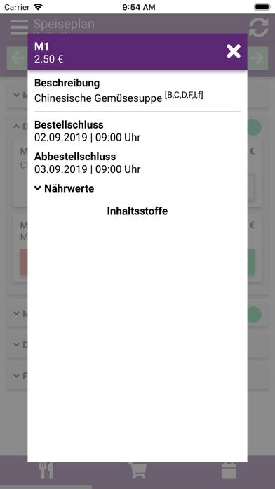 Aubergine Menü screenshot 3