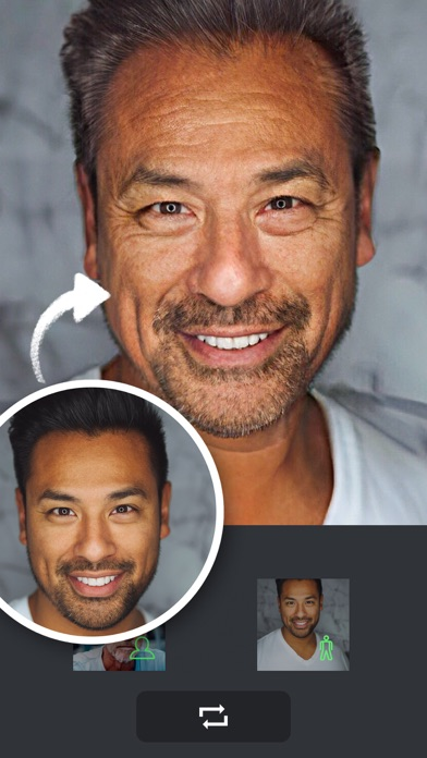 老け顔アプリ-顔変換アプリのおすすめ画像2