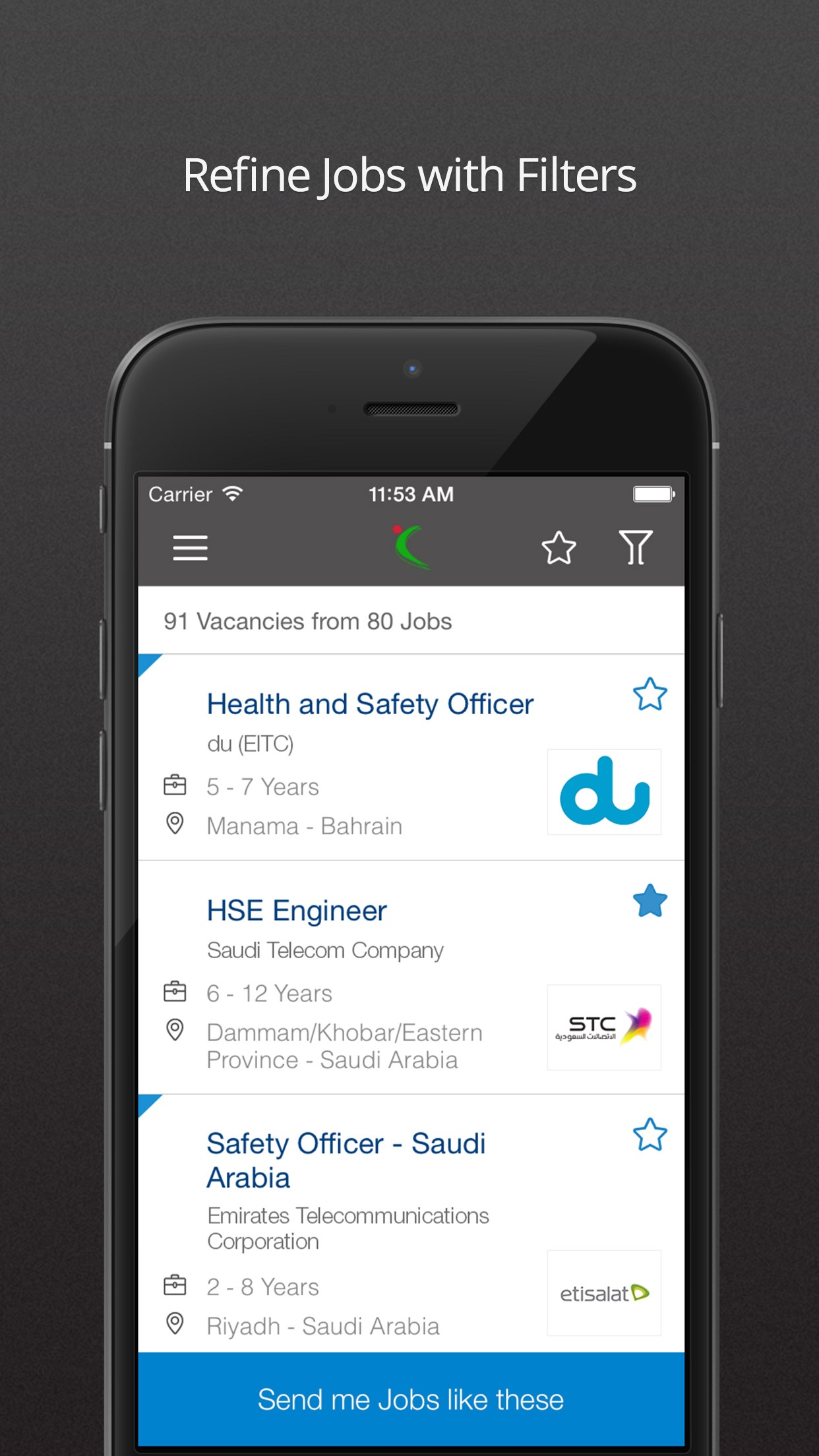 Naukrigulf Job Search App Screenshot