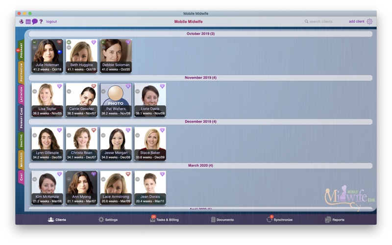 Mobile Midwife EHR for Mac