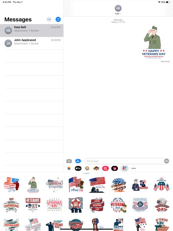 Happy Veterans Day Stickers screenshot 4