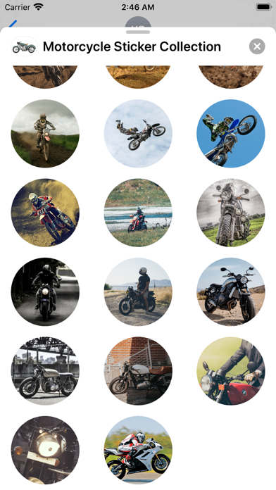 Motorcycle Sticker Collection Screenshot