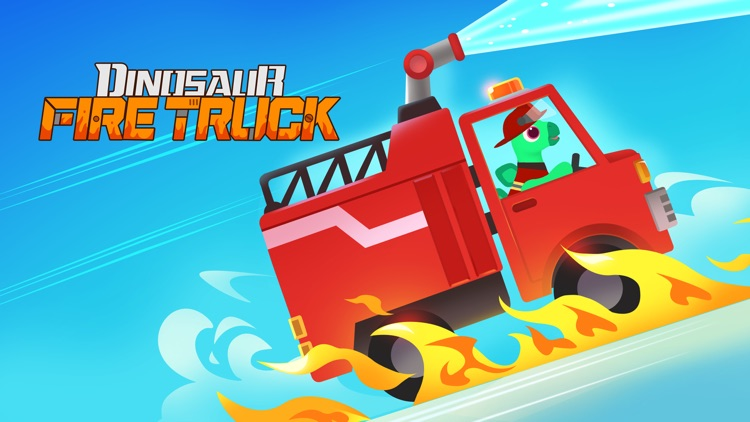 Dinosaur Fire Truck: Kids Game screenshot-0