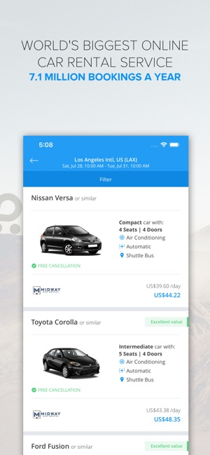 Rentalcars Com Car Rental App On The App Store