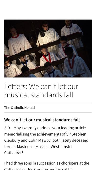 Catholic Herald Magazine screenshot two