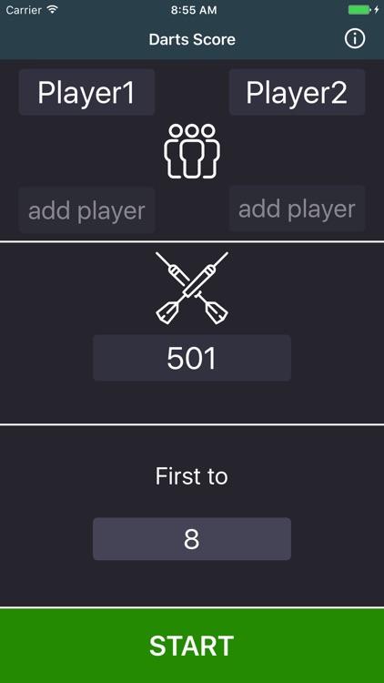 Easy Darts Score