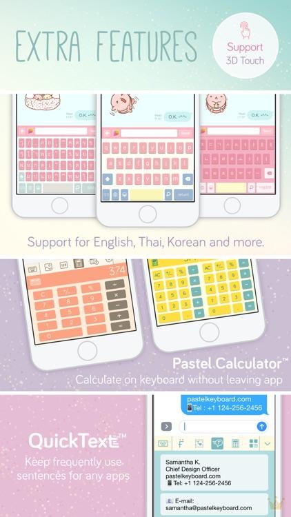 Pastel Keyboard Themes Color screenshot-3