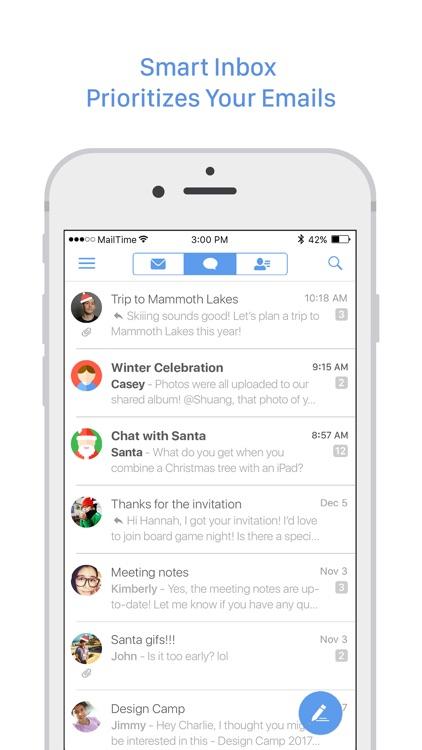 MailTime Pro Email Messenger screenshot-1