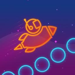 Take Me To Mars -glow stickman