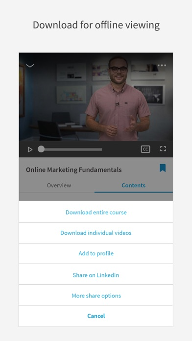 LinkedIn Learning app image