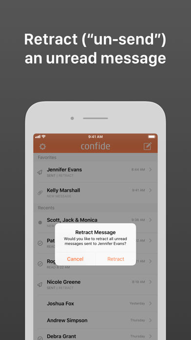 Confide Screenshot